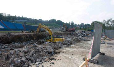 Rekonstrukce fotbalového areálu Bazaly vOstravě
