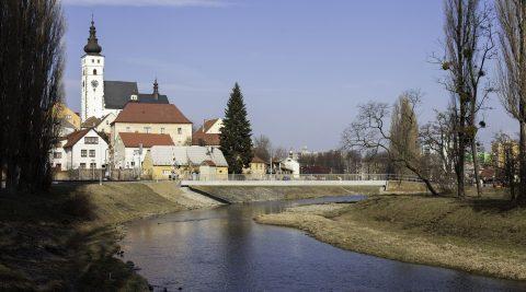 Lávka přes řeku Lubinu vPříboře